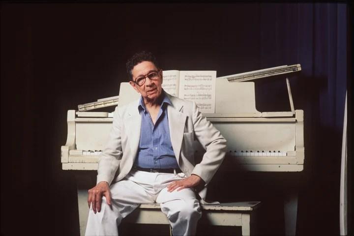 Horacio Salgán, one of the most important tango pianists.  Photo: Rafael Calviño