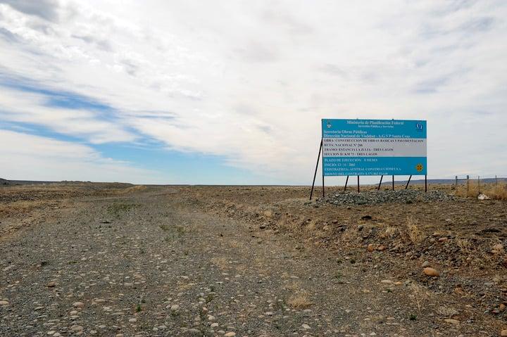Una de las rutas que debía ser construida por Lázaro Báez, tal como indicaba el contrato y los pagos que recibió. Maxi Failla.
