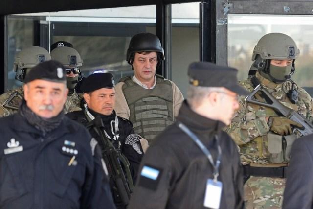 Víctor Manzanares cuando quedó detenido en el marco de la causa Los Sauces.