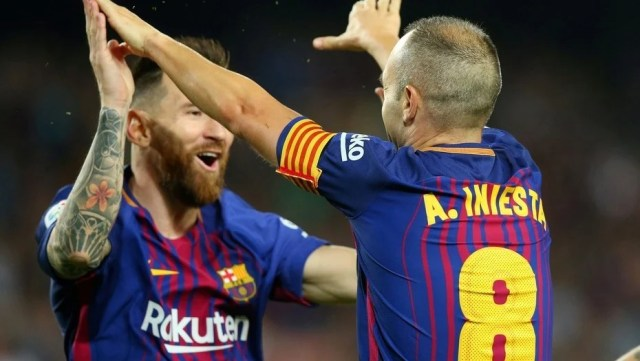 Messi tuvo un partido errático pero Barcelona ganó al trote