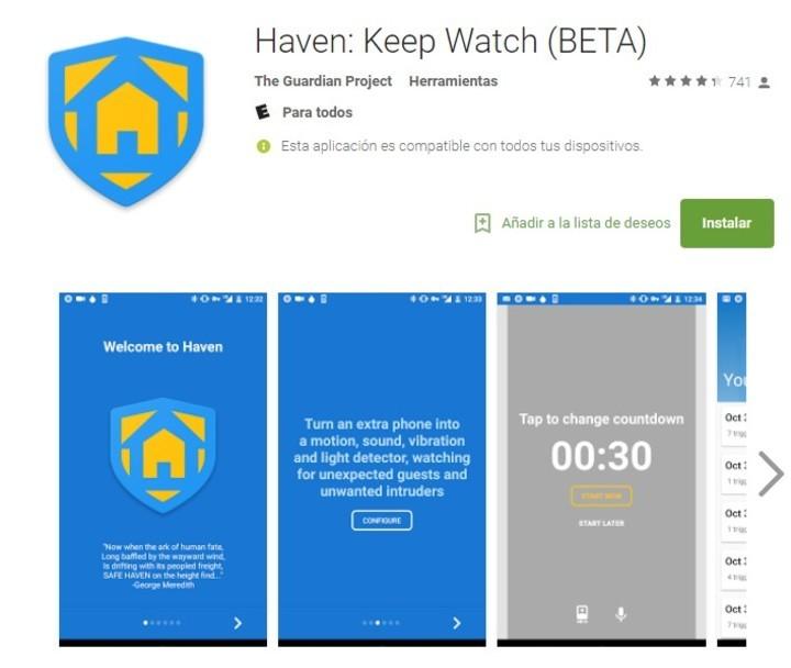 Haven, la app de vigilancia del propio Edward Snowden