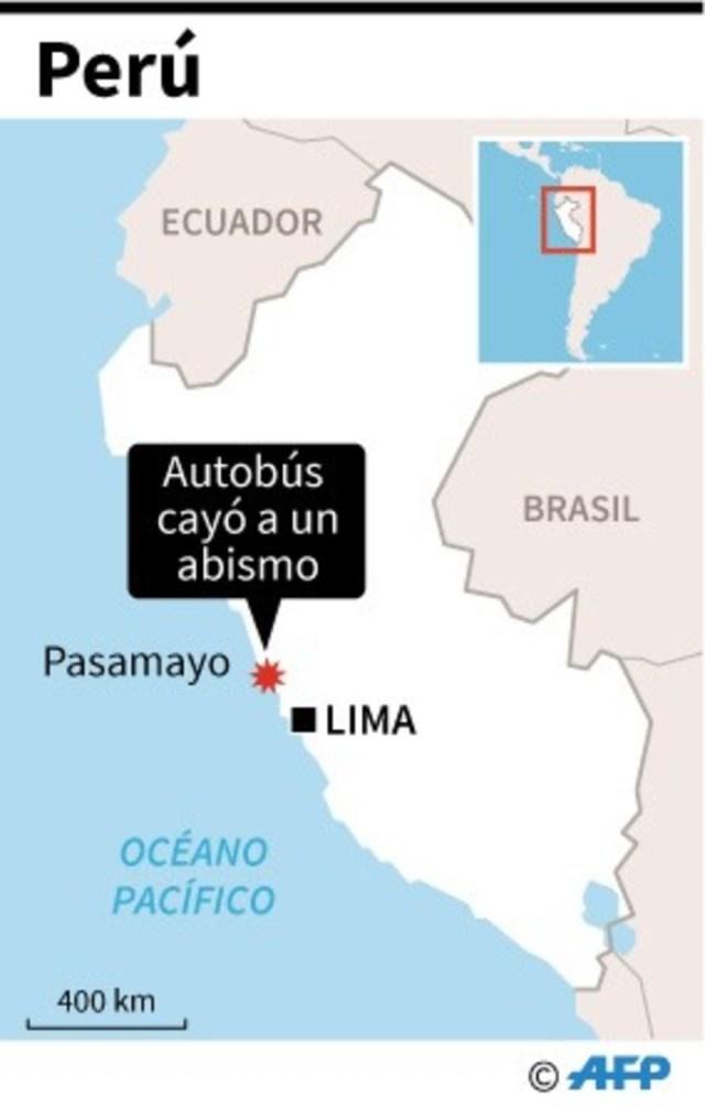 Tragedia en Perú: 36 muertos al caer un micro a un abismo