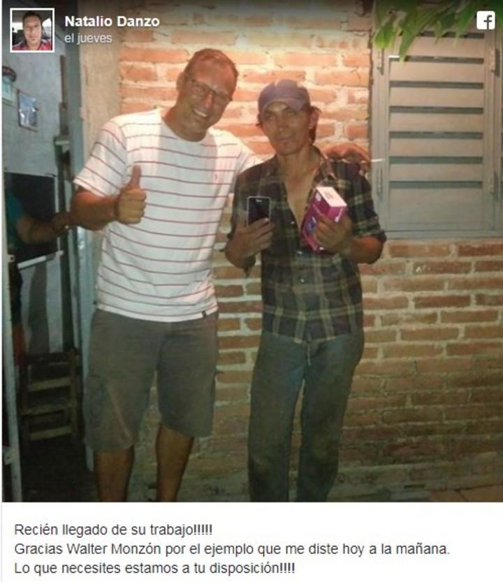 Una captura del muro de Nicolás Danzo, el transportista cordobés que vio todo y lo contó en su Facebook.