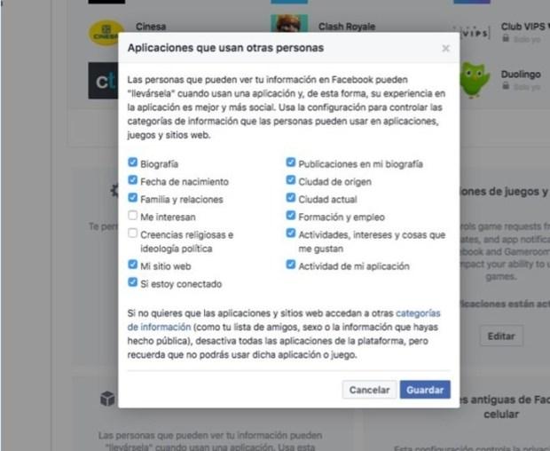 Blindar Facebook.