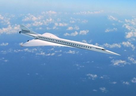 El diseño Boom Supersonic, un avión que llegaría a volar a 18.300 metros de altura y a 2.335 kilómetros por hora.