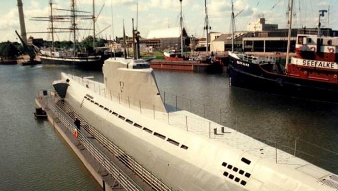 Submarino alemán Wilhelm Bauer, del Tipo XXI, similar al hallado hundido por investigadores del Museo Jutland.