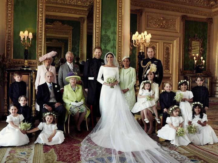 La foto oficial de la boda (AFP)