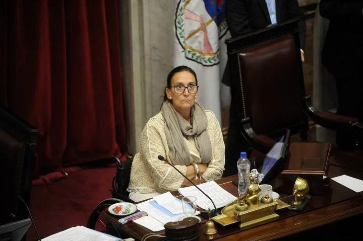 Presidenta del Senado Gabriela Michetti.
