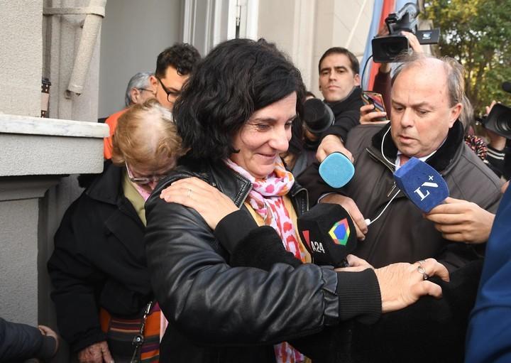 La mamá de Fernando Pastorizzo, tras la lectura del veredicto (José Almeida).