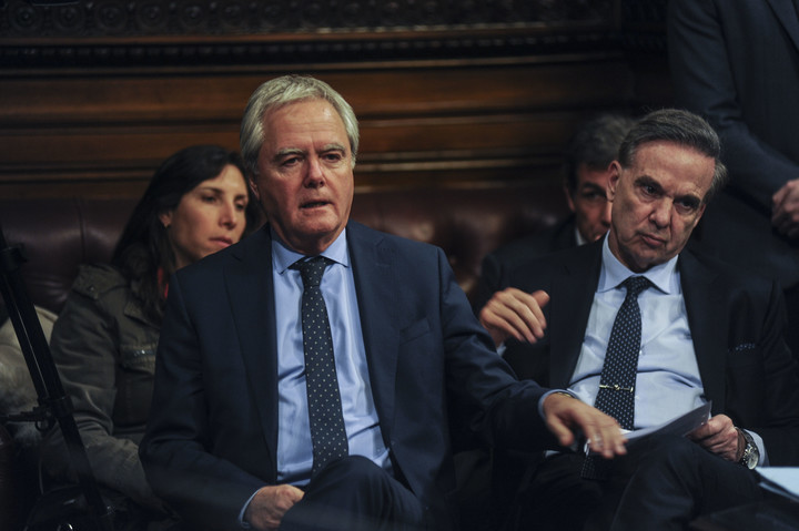 Senadores Federico Pinedo y Pichetto.
