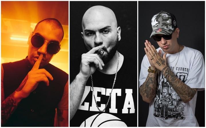 Fianru, Jesús Vázquez e Irione, tres intérpretes de hip hop que incorporaron a su sonido el trap.