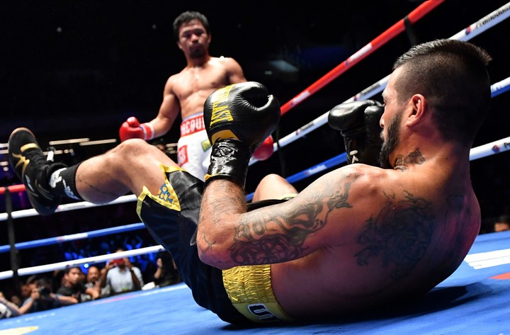 Pacquiao's positive streak began against Matthyse in Malaysia (AP Photo)