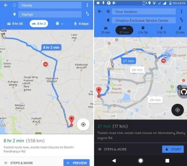 """El """"modo moto"""" de Google Maps permite encontrar rutas más convenientes para trasladarse. (Archivo)"""