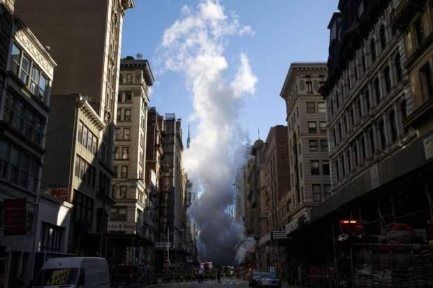 El incidente obligó a la evacuación de varios edificios. (Foto: AFP).