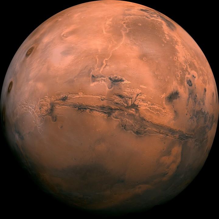 Fotografía sin fechar cedida por el Servicio Geológico de Estados Unidos que muestra el planeta Marte (EFE).