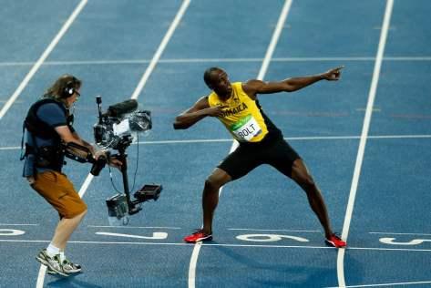El jamaiquino Usain Bolt, ícono del atletismo, en Río 2016. Foto: Maxi Failla