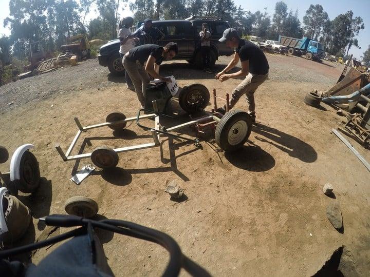 El prototipo del vehículo sustentable fue testeado en Etiopía.