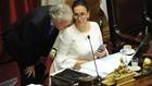 Gabriela Michetti insultó al radical Luis Naidenoff y la escucharon todos en el Senado