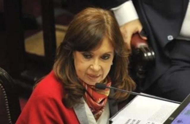 """""""Siempre voté por la vida"""", sostuvo Cristina Kirchner en su discurso durante el debate por la despenalización del aborto. Votó a favor.  Foto: Maxi Failla"""