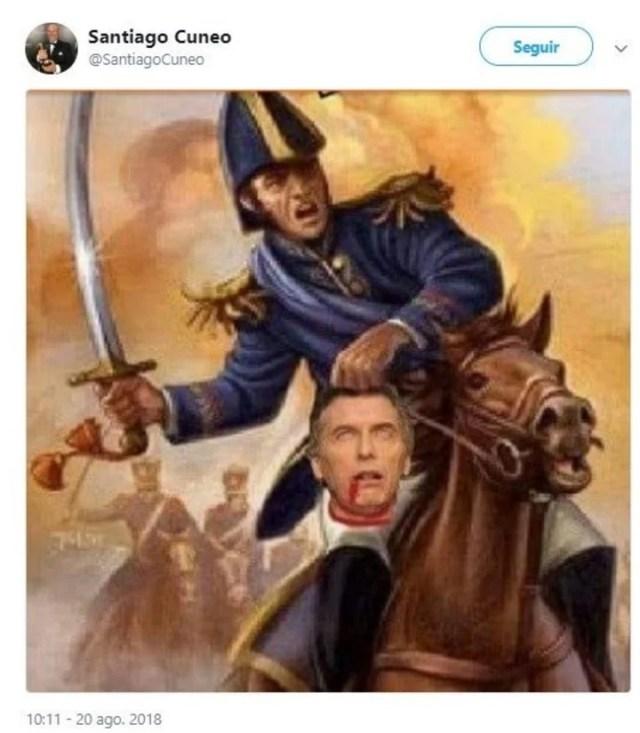 El tuit polémico de Cuneo contra Mauricio Macri.
