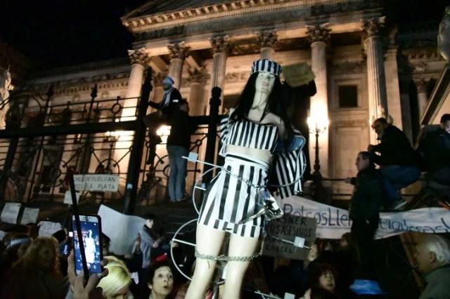 Marcha en el Congreso pidiendo los desafueros de la ex presidenta Cristina Fernández de Kirchner - Foto: Marcelo Carroll