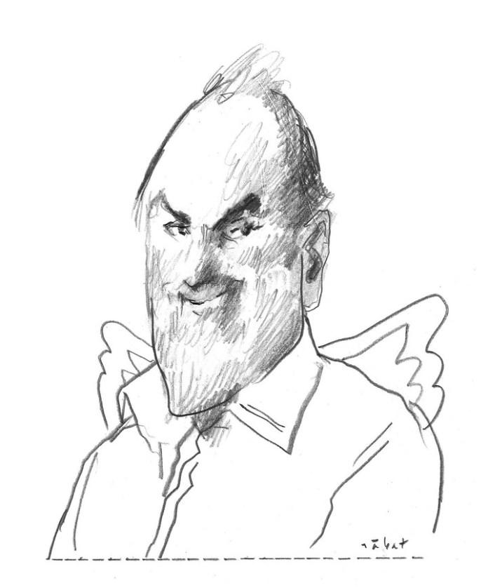 Uno de sus últimos dibujos fue para despedir a otro queridísimo compañero de la redacción que murió pocos días atrás: Julio Blanck.