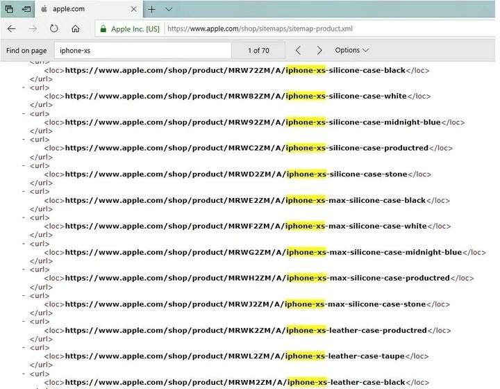 El código XML de la página Apple.com ocultaba los nombres de los tres nuevos iPhones.