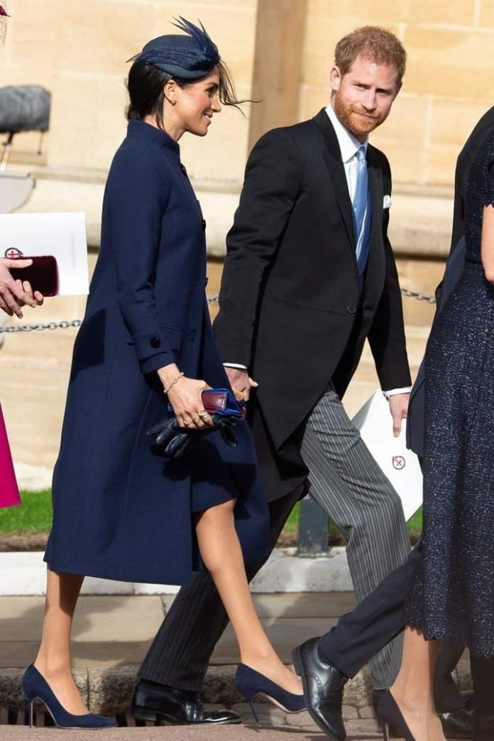 Harry y Meghan llegan a la boda (EFE)