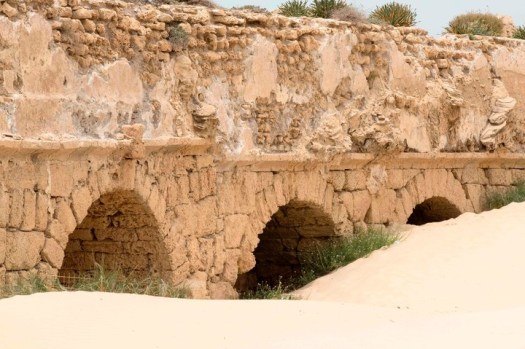 Acueducto. La antigüedad de Cesárea. /AFP