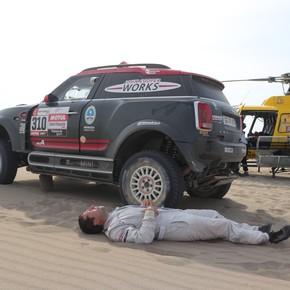 Rally Dakar: Orly Terranova abandonó y tuvo que ser rescatado en helicóptero