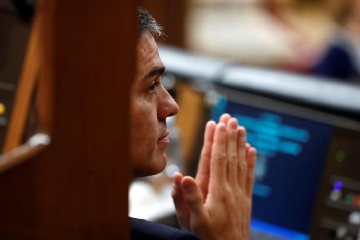 El presidente del Gobierno, Pedro Sánchez, este miércoles en el Congreso (EFE).