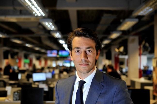 El empresario uruguayo Juan Sartori en la redaccion del diario Clarín.  Maxi Failla
