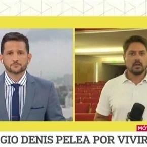 """""""El noticiero de la gente"""" recreó la caída de Sergio Denis y recibió fuertes críticas"""
