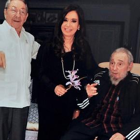 Florencia Kirchner en el mismo hospital por donde pasaron Fidel Castro, Hugo Chávez y Evo Morales