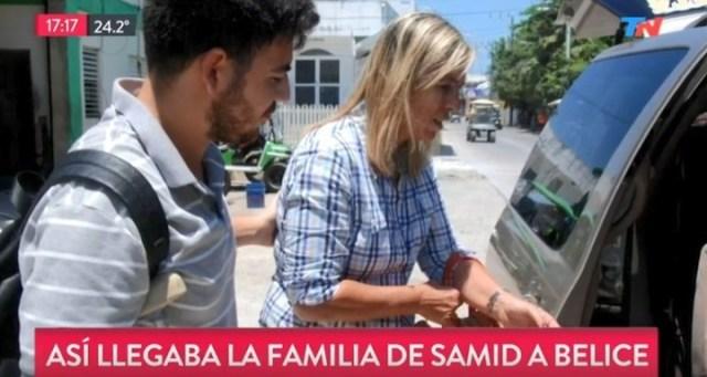 La esposa de Samid, Marisa Scarafia y josé, el hijo del matarife, en Belice.