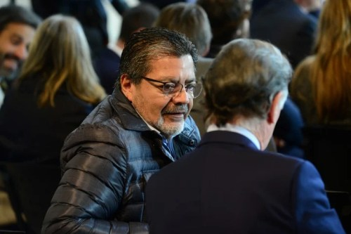 Gerardo Martínez. El líder de la UOCRA fue el anfitrión de la reunión de este lunes con la misión del FMI.