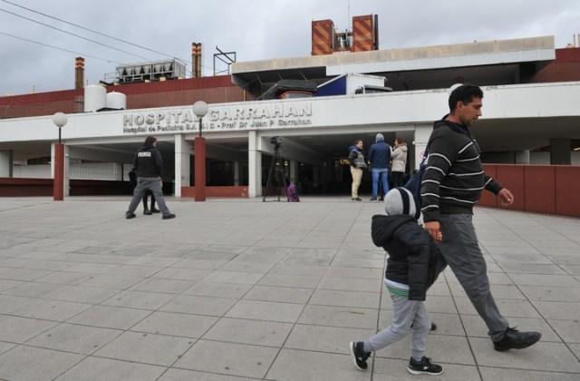 El hospital Garrahan el día después de la detención del pediatra Ricardo Russo. /Enrique Garcia Medina/