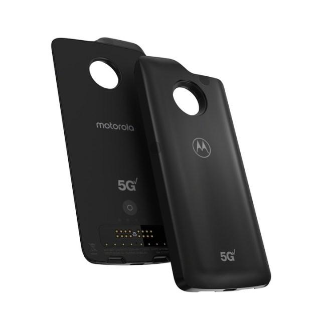 El módulo que permite al Moto Z4 conectarse a la red 5G.