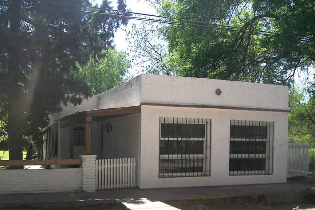 La casa donde mataron al ambientalista Carlos Castello. Según peritos, la operación de autopsia estuvo llena de irregularidades.