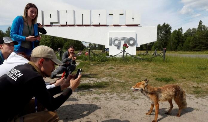 Hoy, la cantidad de turistas que buscan entrar a la Zona de Exclusión de Chernobyl, una zona de tierra contaminada de unos 30 kilómetros de radio que rodea a la planta de energía, da trabajo a varias empresas turísticas  REUTERS/Valentyn Ogirenko