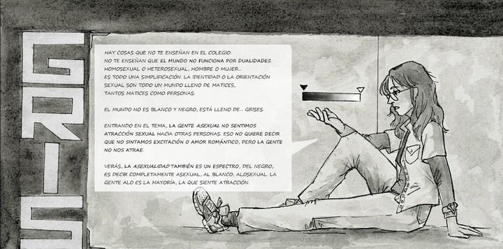 La artista española Raven Dovo, alias ko-fi, realizó un cómic autobiográfico sobre la asexualidad.