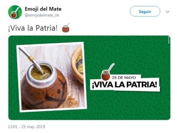 La cuenta oficial del emoji del mate publicó hace varias semanas un tuit con el nuevo símbolo, que ahora puede verse.