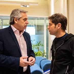 Para mejorar su performance, Axel Kicillof se pega a Alberto Fernández en la campaña