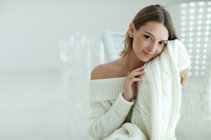 Los tejidos en blanco son delicados y muy versátiles (Shutterstock).