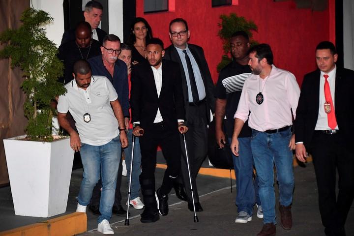 Neymar, cuando debió declarar.