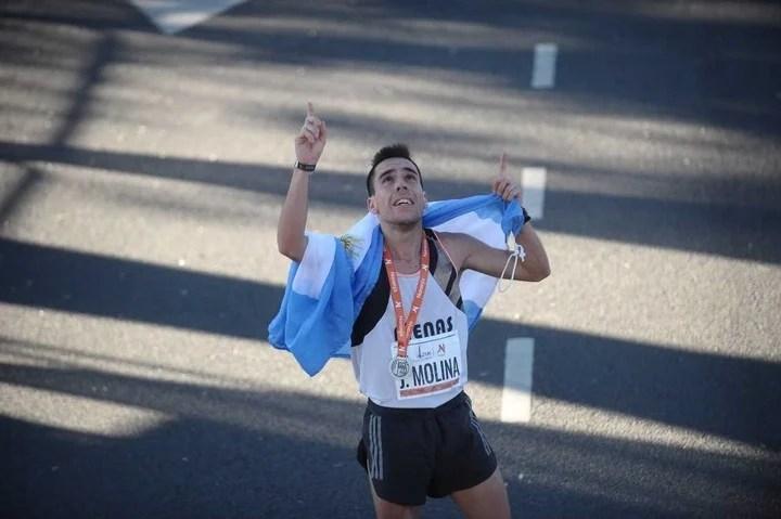 Marcos Julián Molina, campeón nacional de medio maratón.