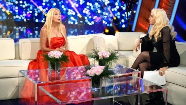 Mariana Nannis, en su visita al programa de Susana Giménez.