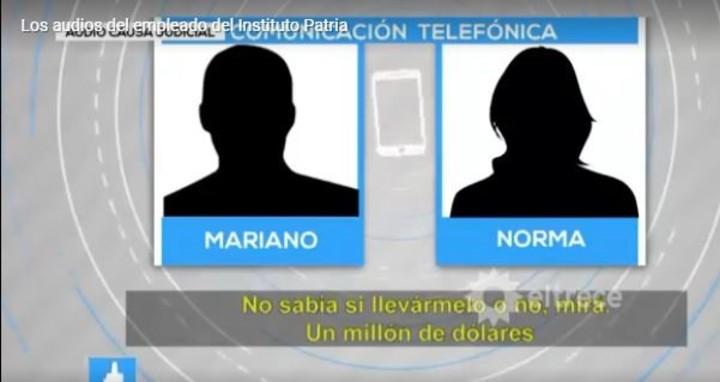El diálogo que Mariano Lescano mantuvo con su mujer antes de acordar llevarse el dinero.