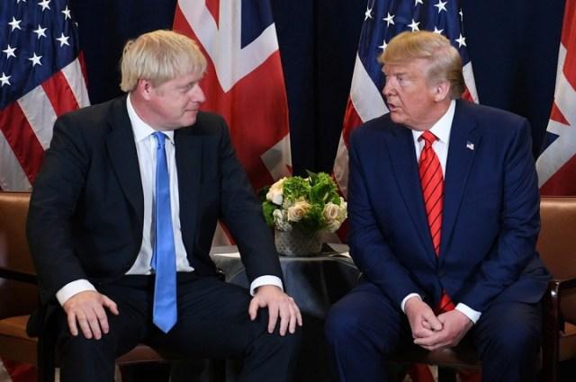 Boris Johnson y Donald Trump, en la última cumbre de Naciones Unidas. (AFP)