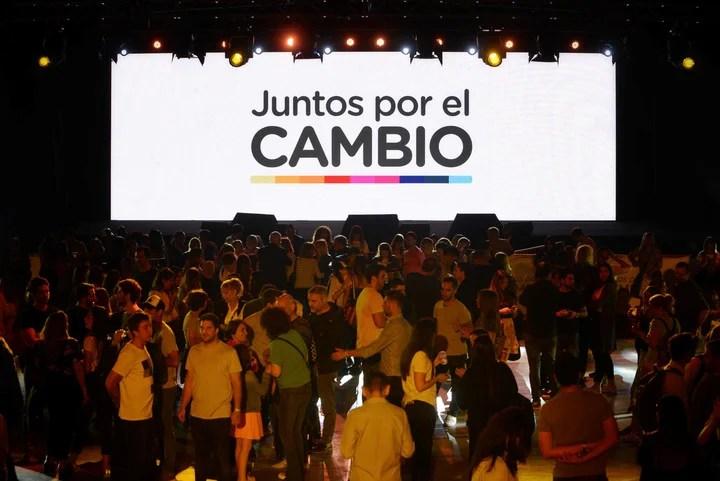 Bunker de Juntos por el Cambio en Costa Salguero. Fotos Emmanuel Fernández